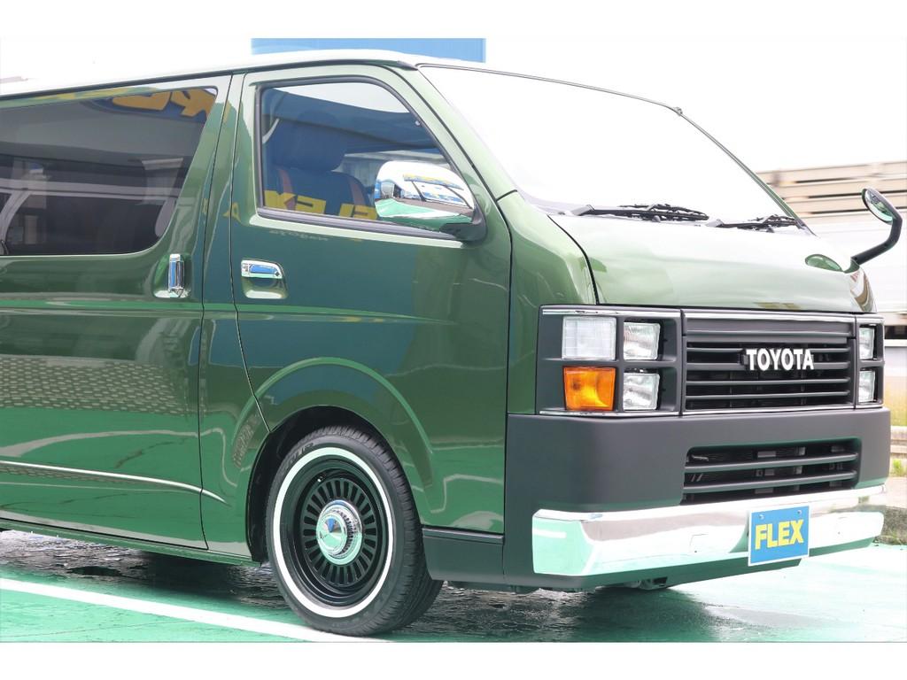 車両カラーはオリーブグリーン!!