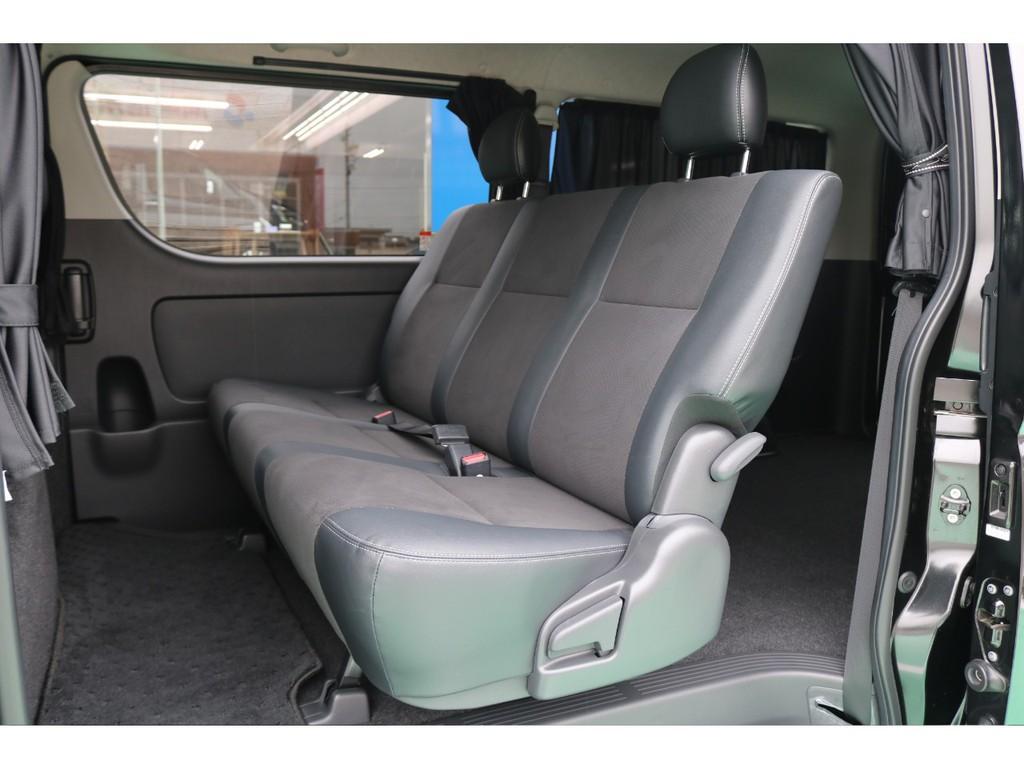 セカンドシートは足元も広く快適にお乗り頂けます♪