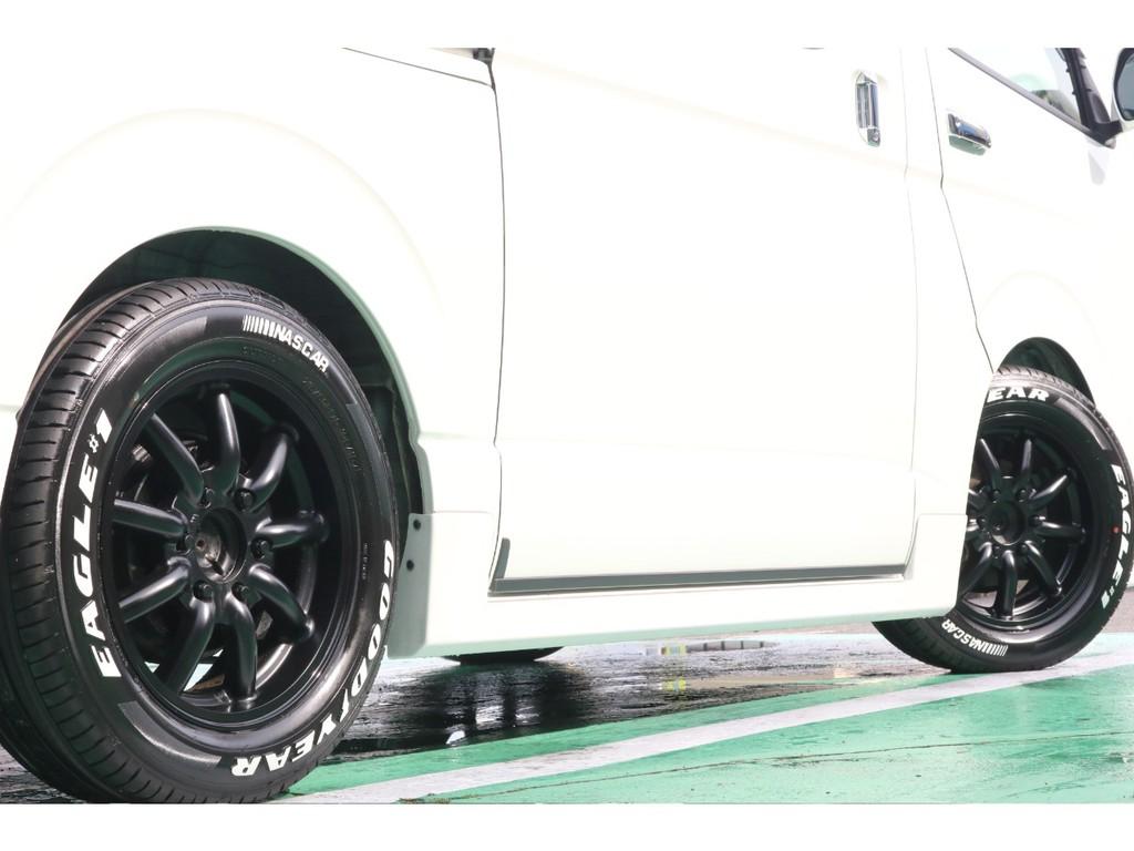 タイヤは大人気グットイヤーナスカータイヤをセットしております!
