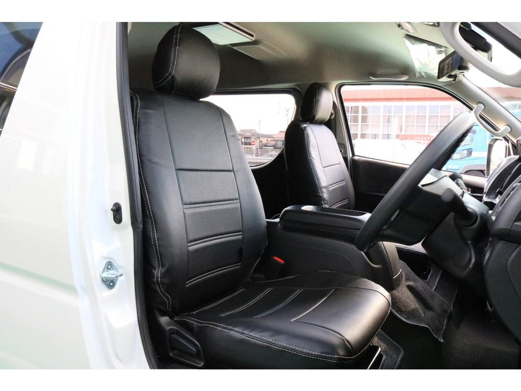 全席オリジナルシートカバーの装着で高級感ある内装で仕上がっております。