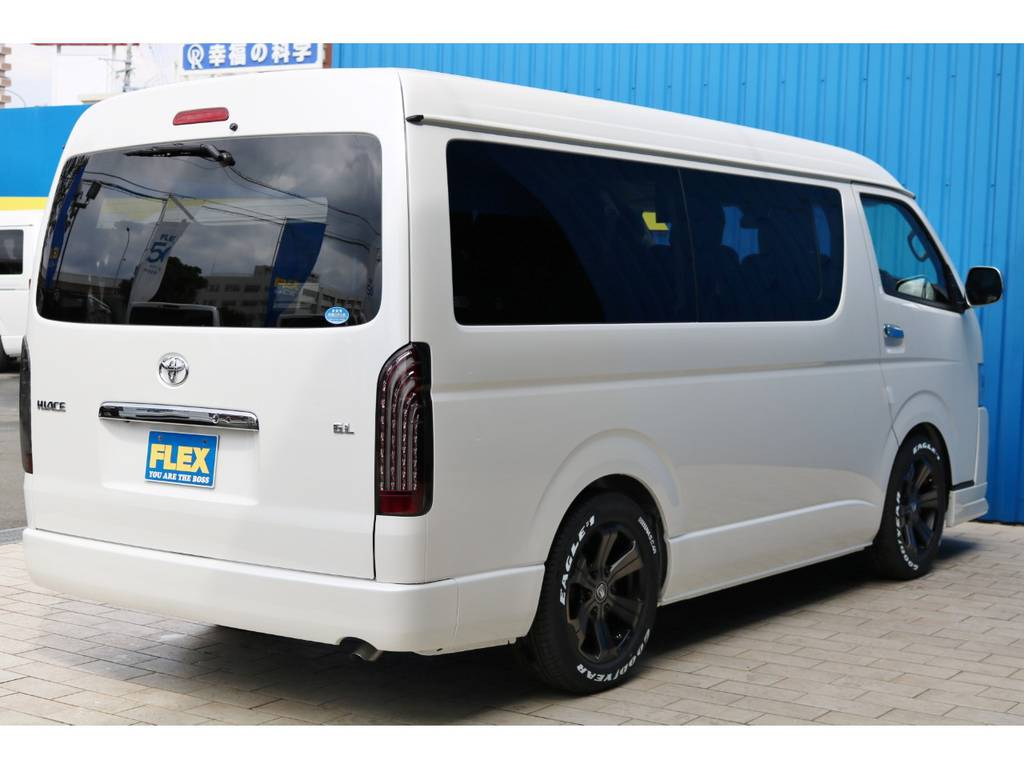 人気のパールホワイト♪ | トヨタ ハイエース 2.7 GL ロング ミドルルーフ TSS付 アルパインパッケージ