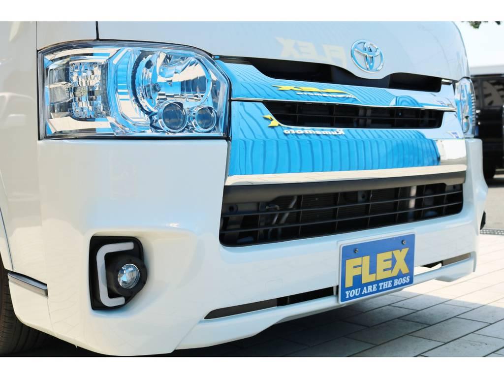 新品 LEDヘッドライト(ロービームはLED、ハイビームはハロゲン) | トヨタ ハイエースバン 2.0 スーパーGL ロング 4型フェイスチェンジ