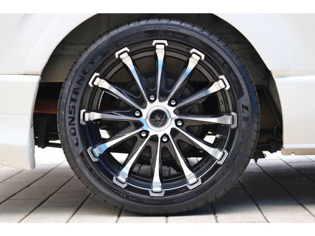 ブラックダイヤモンド18インチアルミホイール! | トヨタ ハイエースバン 2.0 スーパーGL ロング 4型フェイスチェンジ