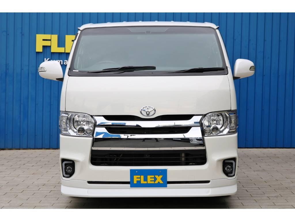 FLEXオリジナル Ⅳ-FACEにチェンジ! | トヨタ ハイエースバン 2.0 スーパーGL ロング 4型フェイスチェンジ
