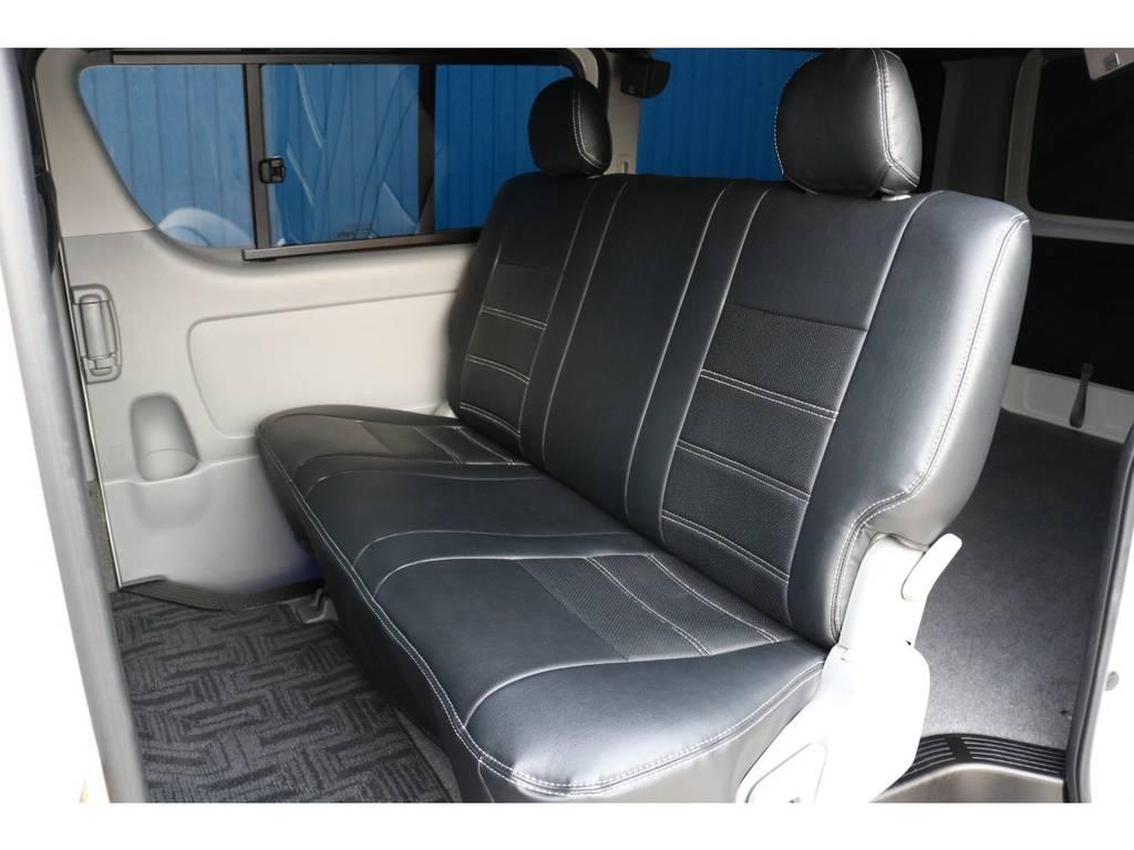 もちろん、セカンドシートも新品シートカバー付き!!お手入れも楽になりますね♪ | トヨタ ハイエースバン 2.0 スーパーGL ロング 4型フェイスチェンジ