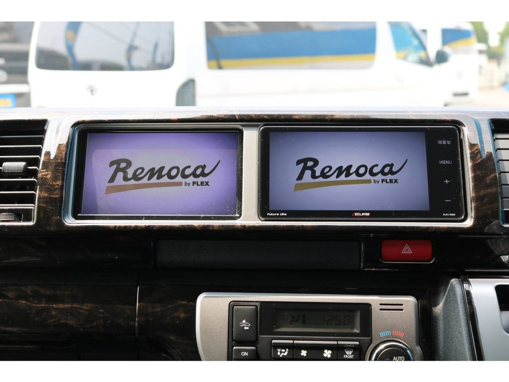 イクリプス フルセグSDナビ(CD録音可能・地図更新3年無料モデル)・サブモニター | トヨタ ハイエース 2.7 GL ロング ミドルルーフ TSS付 New Ver1