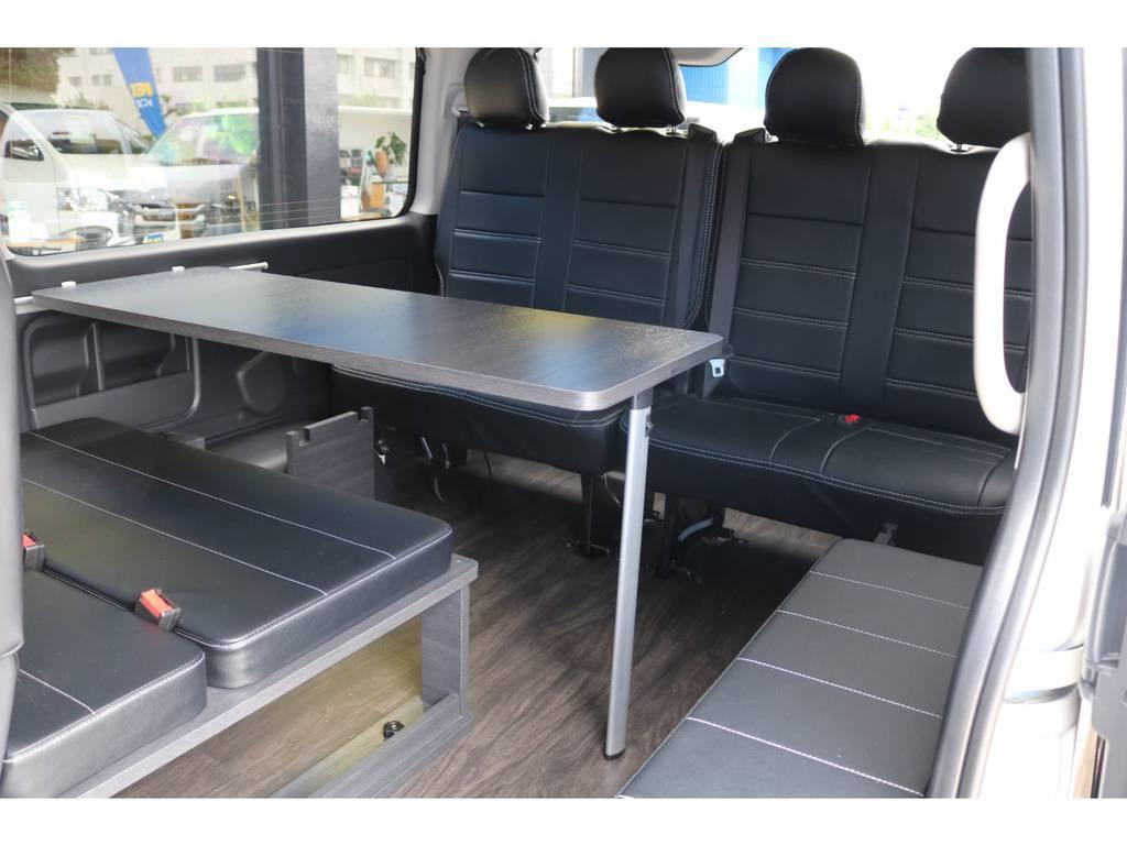 オプション テーブルセット付き! | トヨタ ハイエース 2.7 GL ロング ミドルルーフ TSS付 New Ver1