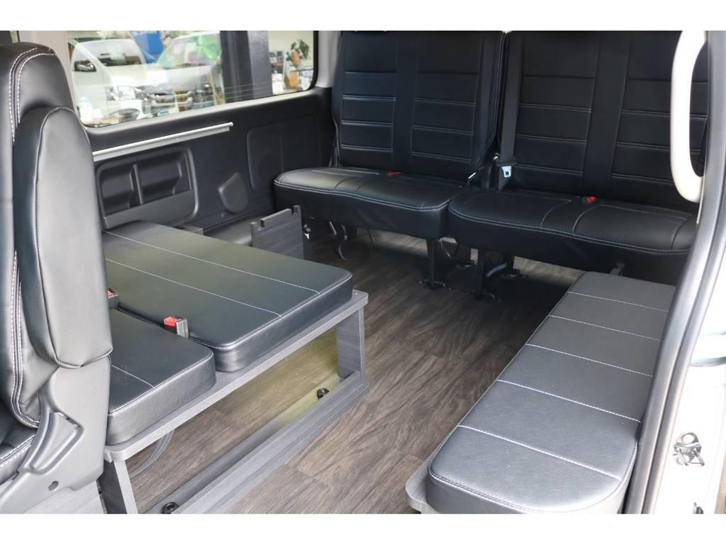3列目後向き座席! | トヨタ ハイエース 2.7 GL ロング ミドルルーフ TSS付 New Ver1