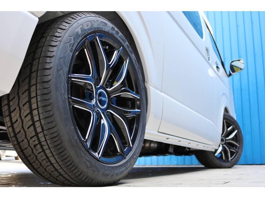 FLEXオリジナル Delf01 18インチAW&TOYO H20 18インチタイヤ | トヨタ ハイエースバン 2.8 スーパーGL ダークプライムⅡワイド ミドルルーフ ロングボディ ディーゼルターボ DPⅡ 小窓付き