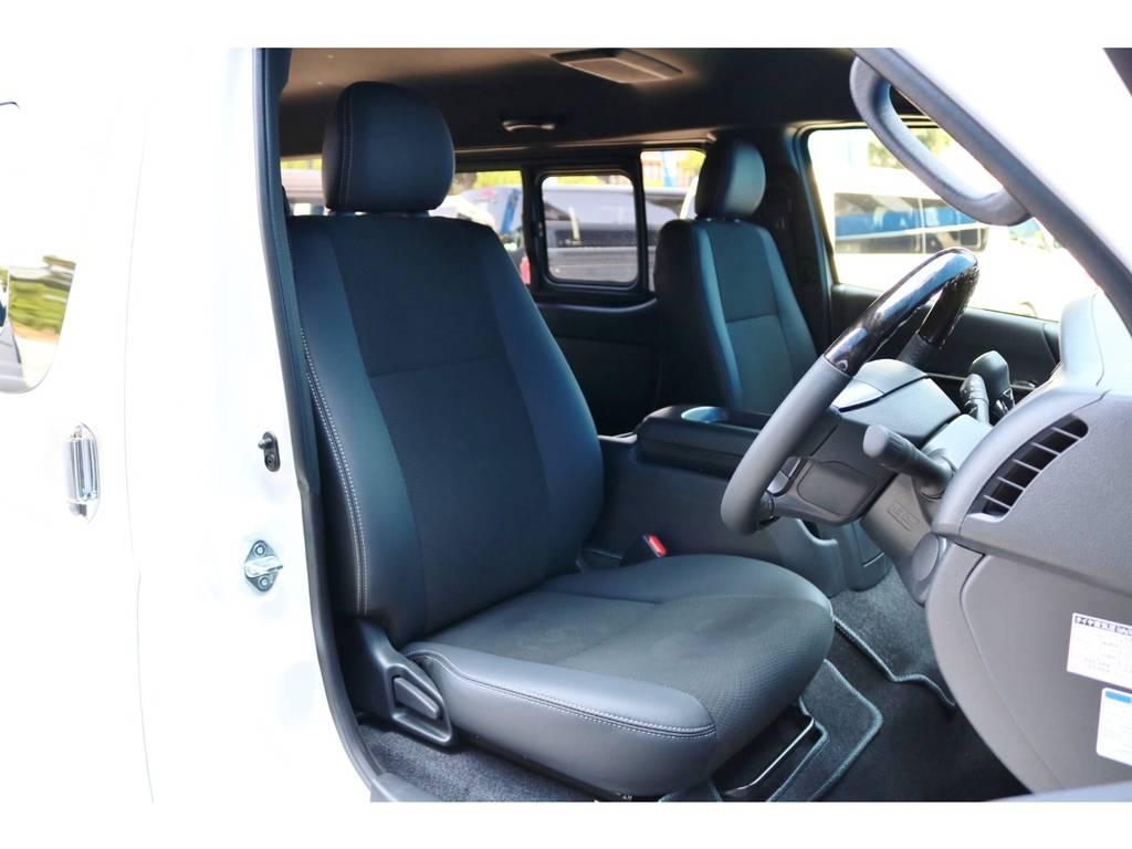 シート表皮 トリコット+合成皮革&ダブルステッチ | トヨタ ハイエースバン 2.8 スーパーGL ダークプライムⅡワイド ミドルルーフ ロングボディ ディーゼルターボ DPⅡ 小窓付き