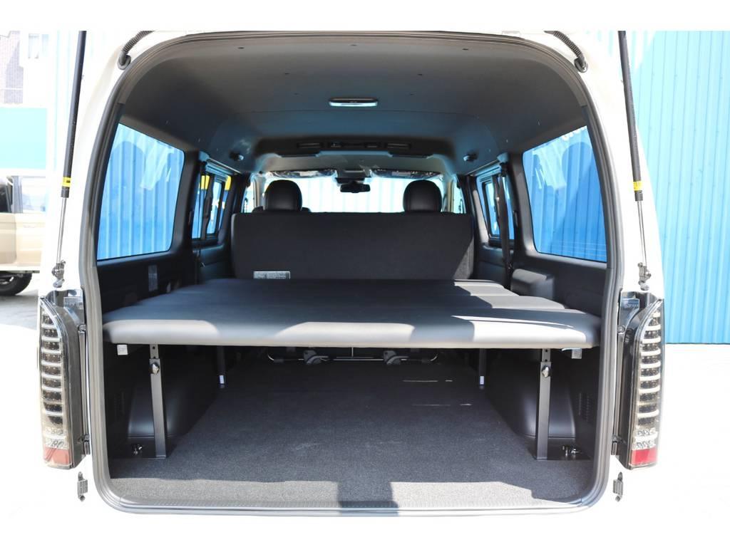 FLEXオリジナルベッドキット付き! | トヨタ ハイエースバン 2.8 スーパーGL ダークプライムⅡワイド ミドルルーフ ロングボディ ディーゼルターボ DPⅡ 小窓付き