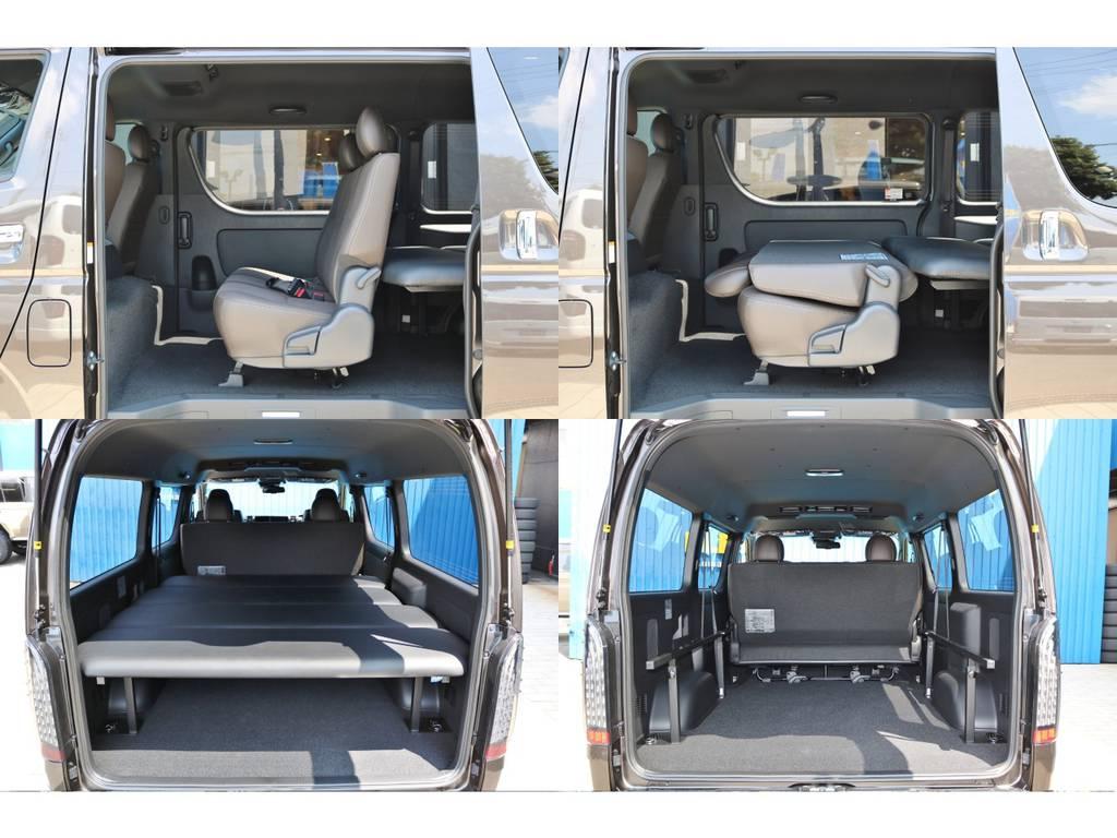 荷物の量や大きさに合わせて、使い方自由自在です♪ | トヨタ ハイエースバン 2.8 スーパーGL 50TH アニバーサリーLTD ワイド ミドルルーフ ロングボディ Dターボ グラファイトメタリック