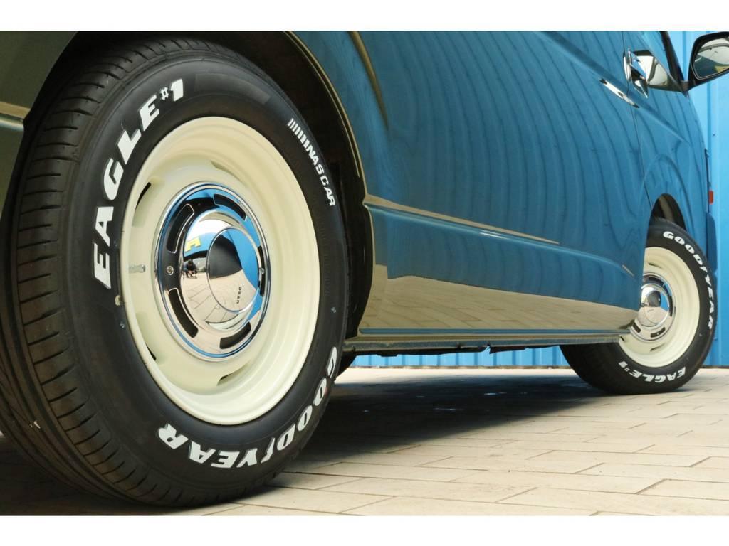 新品 クリムソン クロスカントリー16インチアルミホイール&グッドイヤー ナスカータイヤ | トヨタ ハイエース 2.7 GL ロング ミドルルーフ Coast Lines R1コンビ④