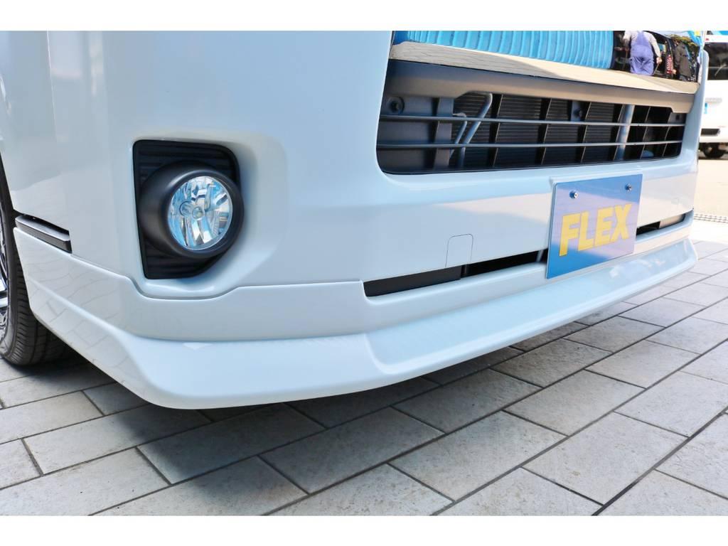 新品 FLEXフロントリップスポイラー   トヨタ ハイエースバン 2.0 スーパーGL ダークプライム ロングボディ 4型6AT