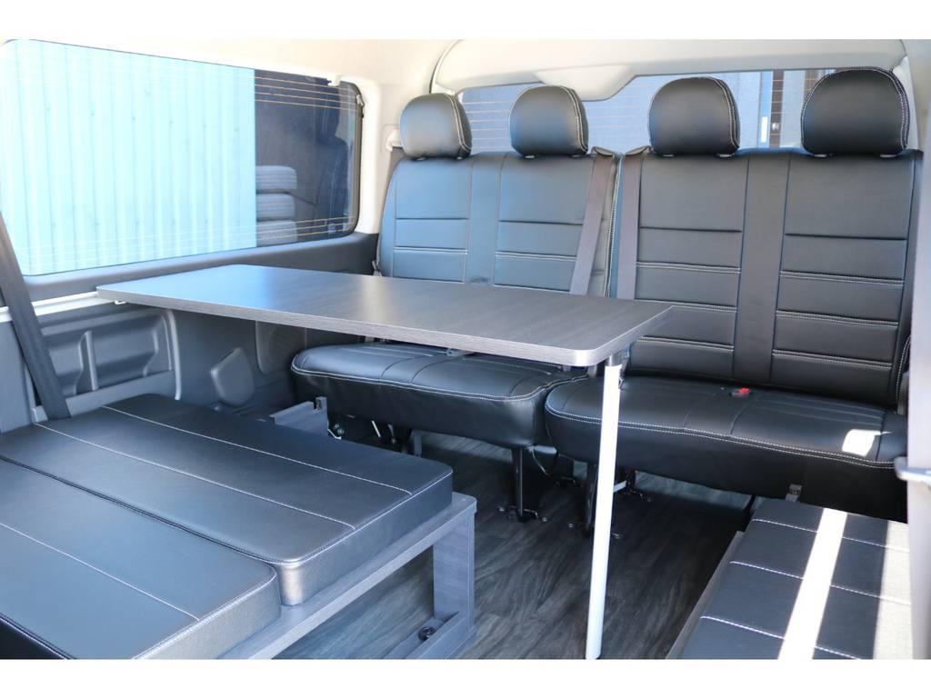 オプション サイドテーブルセット付き! | トヨタ ハイエース 2.7 GL ロング ミドルルーフ TSS付 シートアレンジVer2