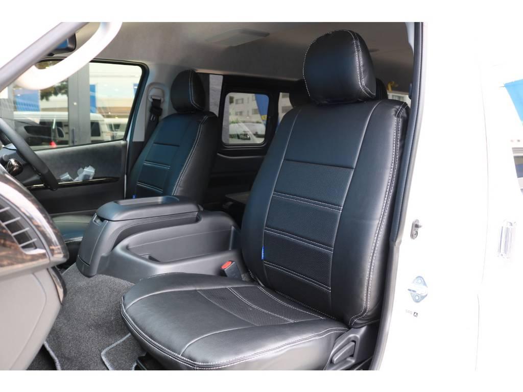 シートカバー付きでお手入れも楽になりますね♪ | トヨタ ハイエース 2.7 GL ロング ミドルルーフ TSS付 シートアレンジVer2
