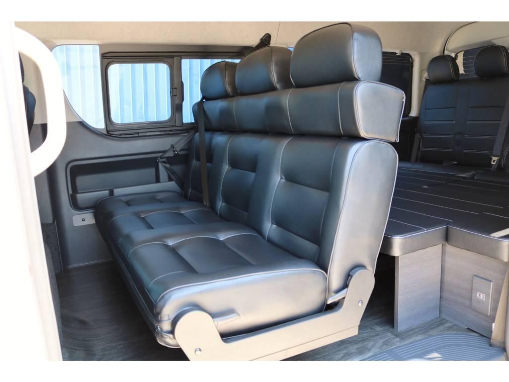 セカンドシート オリジナル3人掛け1400幅シート! | トヨタ ハイエース 2.7 GL ロング ミドルルーフ TSS付 シートアレンジVer2
