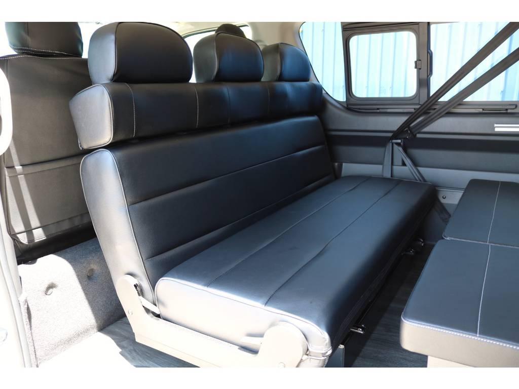 対面モード! | トヨタ ハイエース 2.7 GL ロング ミドルルーフ TSS付 シートアレンジVer2