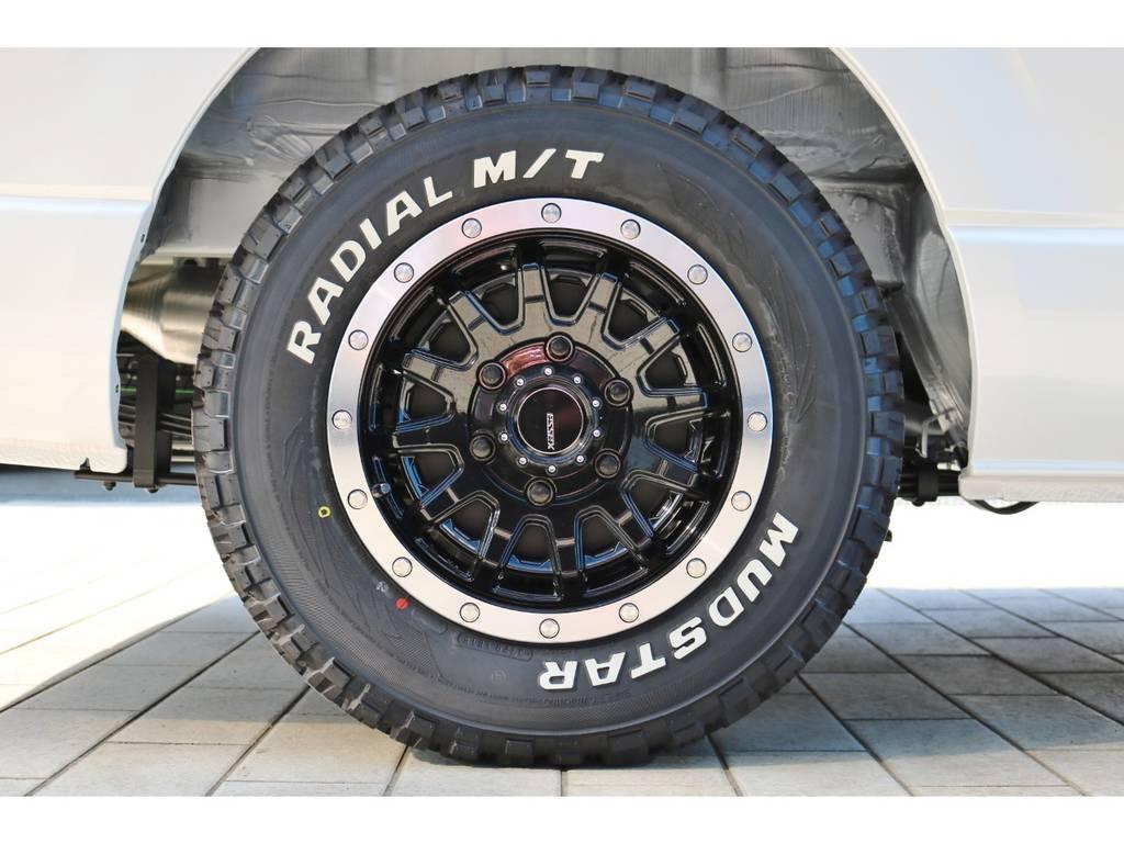 ESSEX EX 15インチAW&マッドスター MTタイヤ | トヨタ ハイエースバン 2.8 スーパーGL ダークプライムⅡ ロングボディ ディーゼルターボ エクストリームスタイル