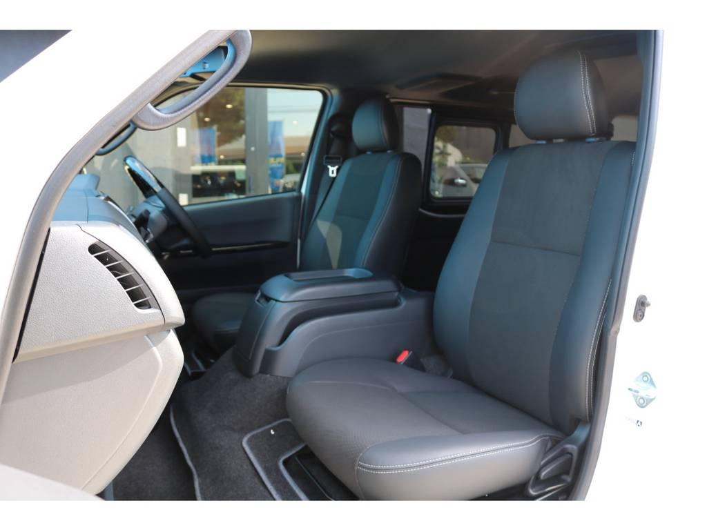 シート色はダークグレーです! | トヨタ ハイエースバン 2.8 スーパーGL ダークプライムⅡ ロングボディ ディーゼルターボ エクストリームスタイル