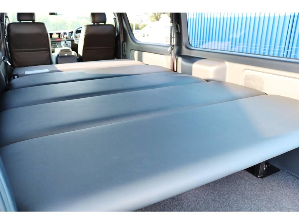FLEXオリジナル ベッドキット! | トヨタ ハイエースバン 2.8 スーパーGL ダークプライムⅡ ロングボディ ディーゼルターボ エクストリームスタイル