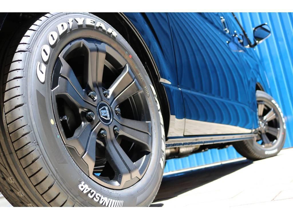 FLEXオリジナルカラー バルベログランデ17AW&グッドイヤー ナスカータイヤ! | トヨタ ハイエースバン 2.0 スーパーGL ダークプライムⅡ ロングボディ DPⅡ FLEXフルカスタム