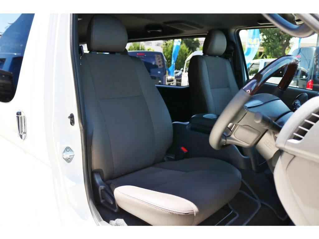 特別装備 シート表皮:トリコット+合成皮革! | トヨタ ハイエースバン 2.8 スーパーGL 50TH アニバーサリー リミテッド ロングボディ ディーゼルターボ 50TH FLEXフルカスタム