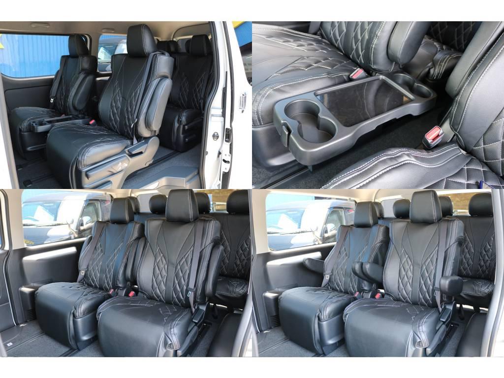 専用テーブル完備! | トヨタ ハイエース 2.7 GL ロング ファインテックツアラー FLEXカスタム