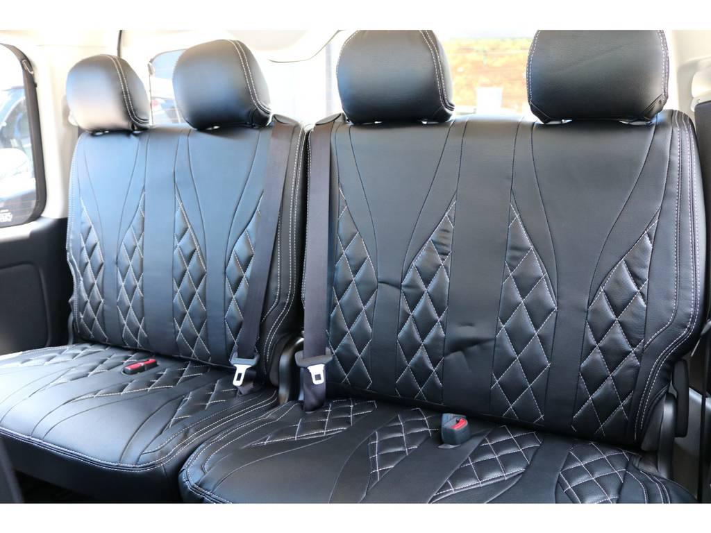 4列目跳ね上げシート! | トヨタ ハイエース 2.7 GL ロング ファインテックツアラー FLEXカスタム