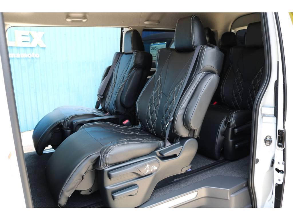 オットマン付きキャプテンシート!長距離の移動も楽になりますね♪ | トヨタ ハイエース 2.7 GL ロング ファインテックツアラー FLEXカスタム