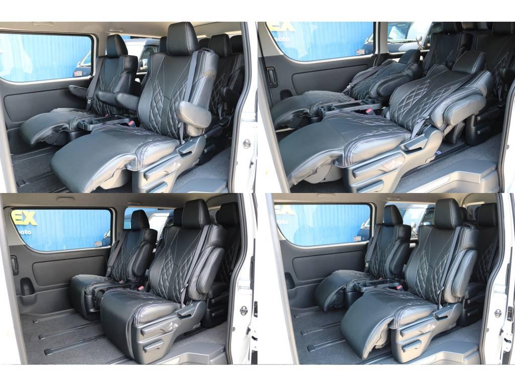 オットマン&ロングスライドでゆったり乗れますよ♪ | トヨタ ハイエース 2.7 GL ロング ファインテックツアラー FLEXカスタム