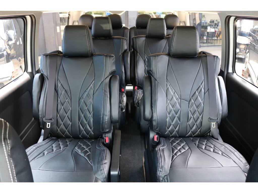 キャプテンシート×4脚!! | トヨタ ハイエース 2.7 GL ロング ファインテックツアラー FLEXカスタム