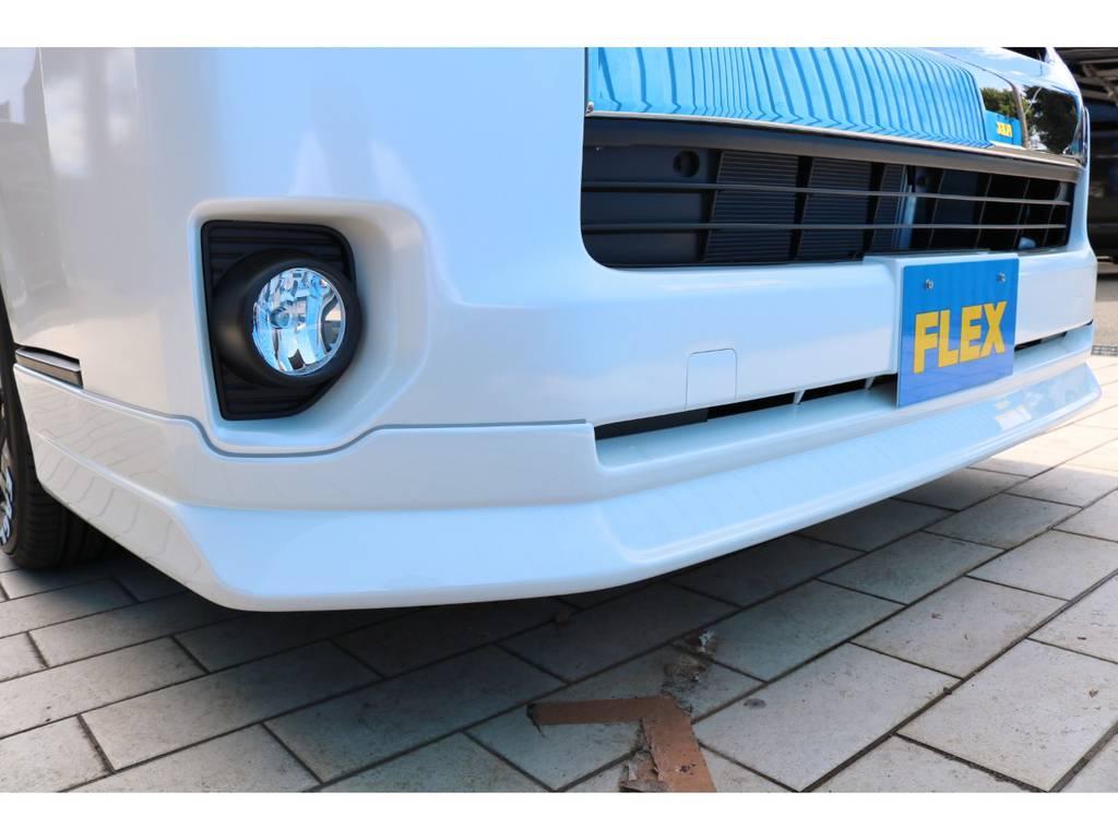 FLEXオリジナル フロントリップスポイラー! | トヨタ ハイエース 2.7 GL ロング ミドルルーフ TSS付アレンジAS