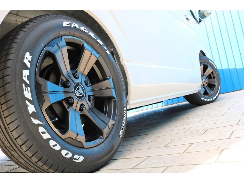 FLEXオリジナルカラー バルベログランデ17AW&ナスカータイヤ | トヨタ ハイエース 2.7 GL ロング ミドルルーフ TSS付アレンジAS