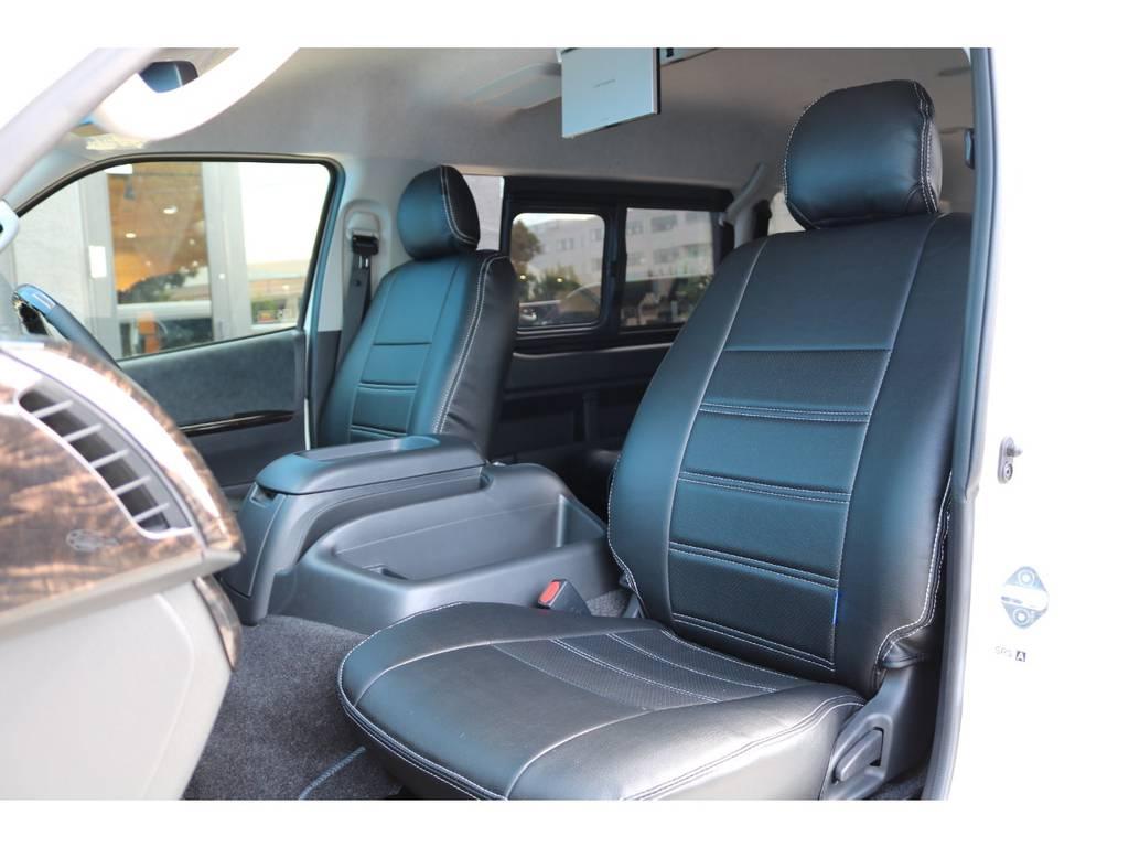 シートカバー付きでお手入れも楽になりますね♪ | トヨタ ハイエース 2.7 GL ロング ミドルルーフ TSS付アレンジAS