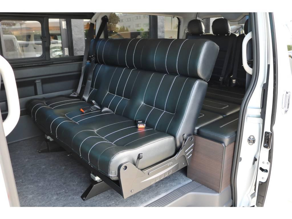 セカンドシート 成形3人掛けシート | トヨタ ハイエース 2.7 GL ロング ミドルルーフ TSS付アレンジAS