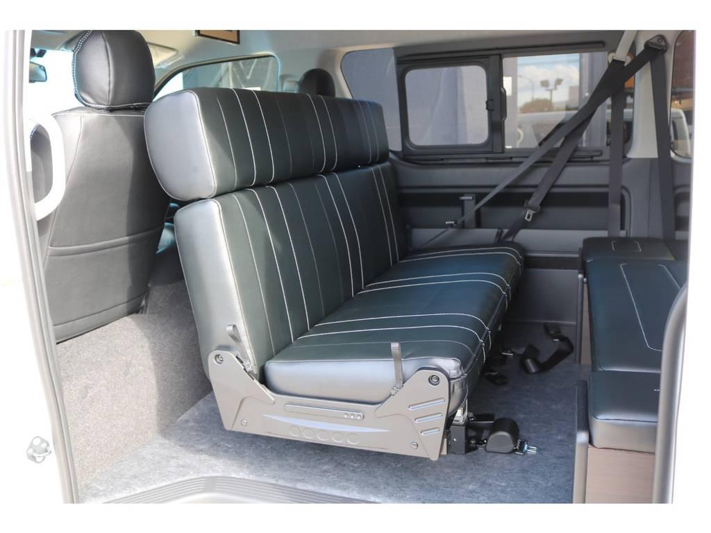 後向き 対面モード! | トヨタ ハイエース 2.7 GL ロング ミドルルーフ TSS付アレンジAS