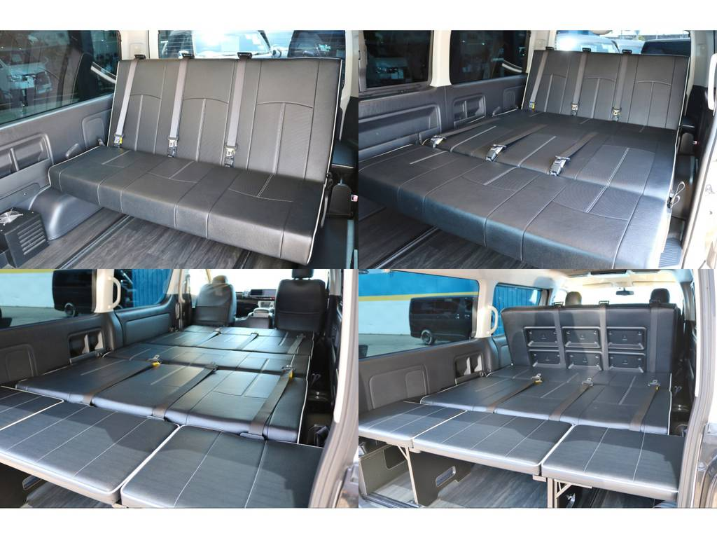 フルスライドレールとバタフライシートの組み合わせにより、使い方に合わせて様々なシートアレンジが可能です♪