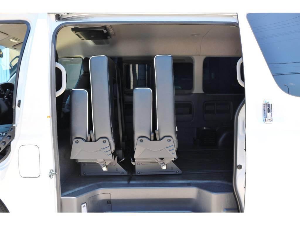 セカンド&サードシートを前方に寄せると、広々としたラゲッジスペースとしてもお使い頂けます!