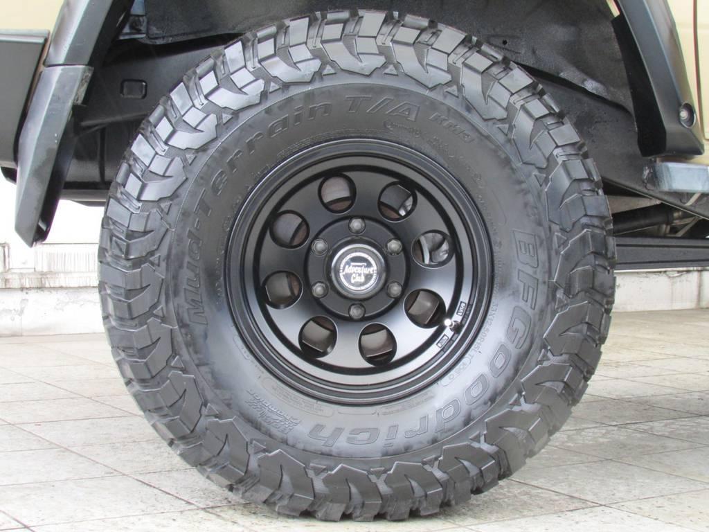 新品ジムライン15インチAWに新品BFグッドリッチMTタイヤの組み合わせ!