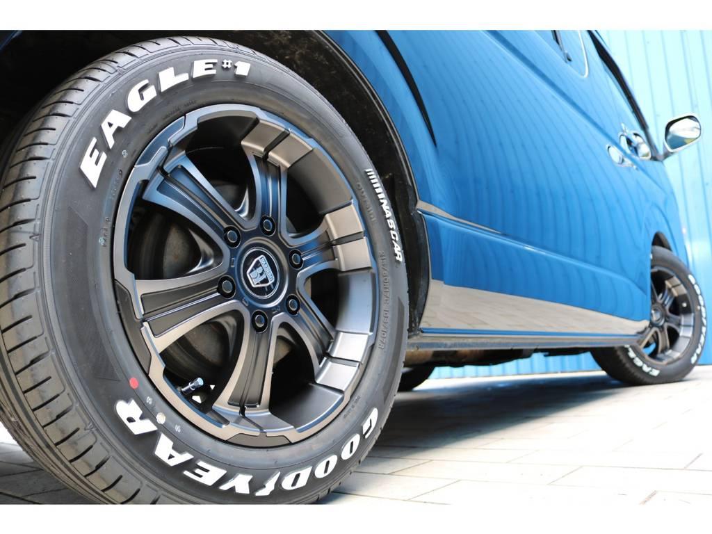 新品 FLEXオリジナルカラー バルベロディープス17AW&新品 グッドイヤー ナスカータイヤ