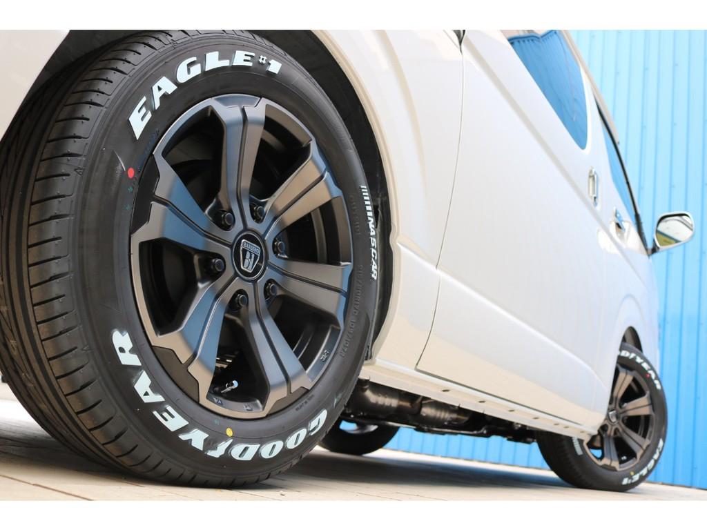 足元にはFLEXオリジナルカラー バルベログランデ17AW&グッドイヤー ナスカータイヤ!
