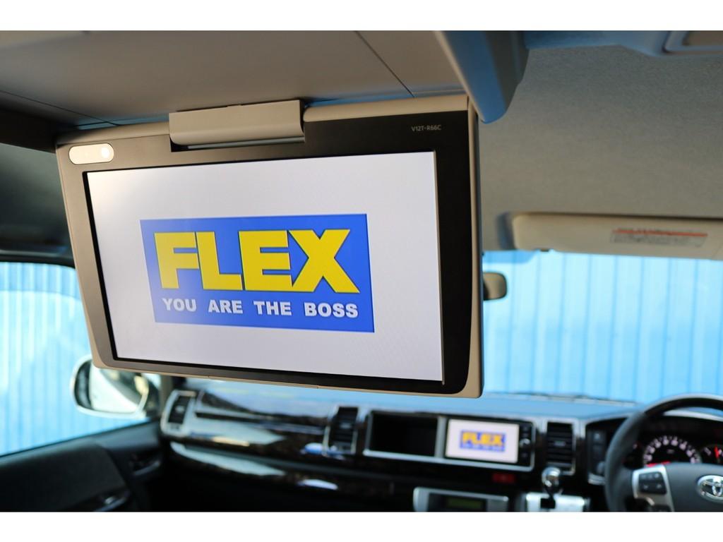 トヨタ純正の12,1インチの大画面です♪DVDを流しておけば、後席でのドライブも退屈しませんね♪