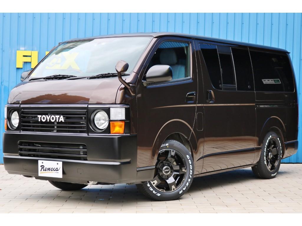 【新作丸目フェイス Renoca コーストライン】カラーはホットチョコレート×ルーフ他各所マットブラックで作成しました!ベース車両はワンオーナーの上質車両ですよ!