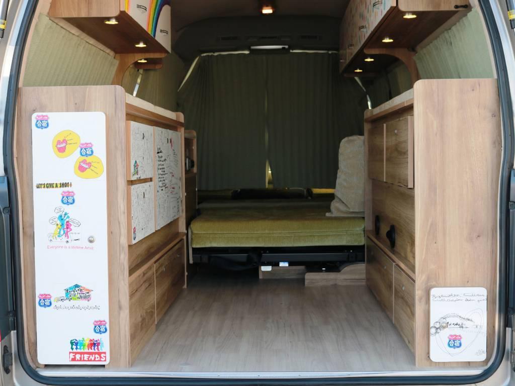 ベッドマットを収納すればラゲージスペースとしてお使い頂けます!