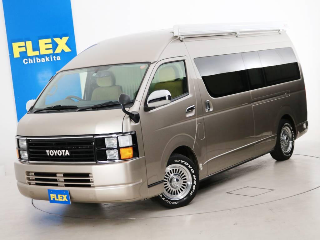 H28年 1.4万km ハイエースバン DX スーパーロング ハイルーフ ガソリン4WD 寒冷地仕様 FLEXキャンピング♪