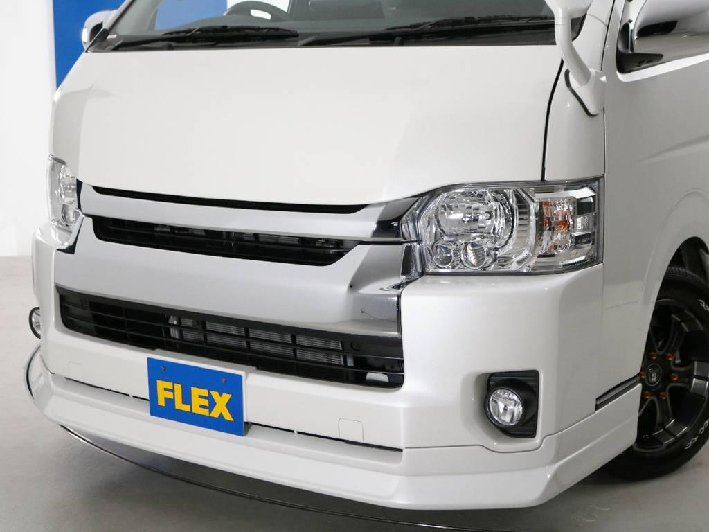 FLEXオリジナル フロントリップスポイラー&ボンネット Delfino Line!