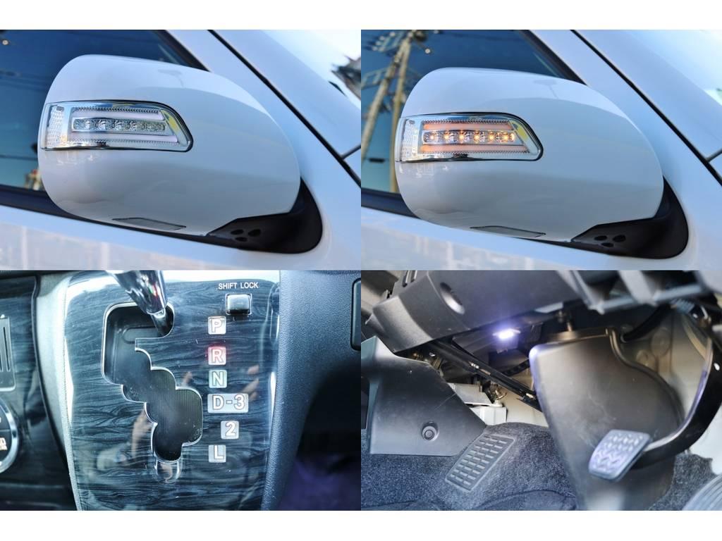 ドアミラーウィンカー付き♪シフトパネルLED施工されているので、夜間もシフト位置見やすいですね♪ | トヨタ ハイエース 2.7 GL ロング ミドルルーフ ベットキット・ナビ・モニター付き