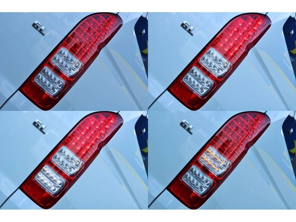 純正風LEDテール♪ | トヨタ ハイエース 2.7 GL ロング ミドルルーフ ベットキット・ナビ・モニター付き