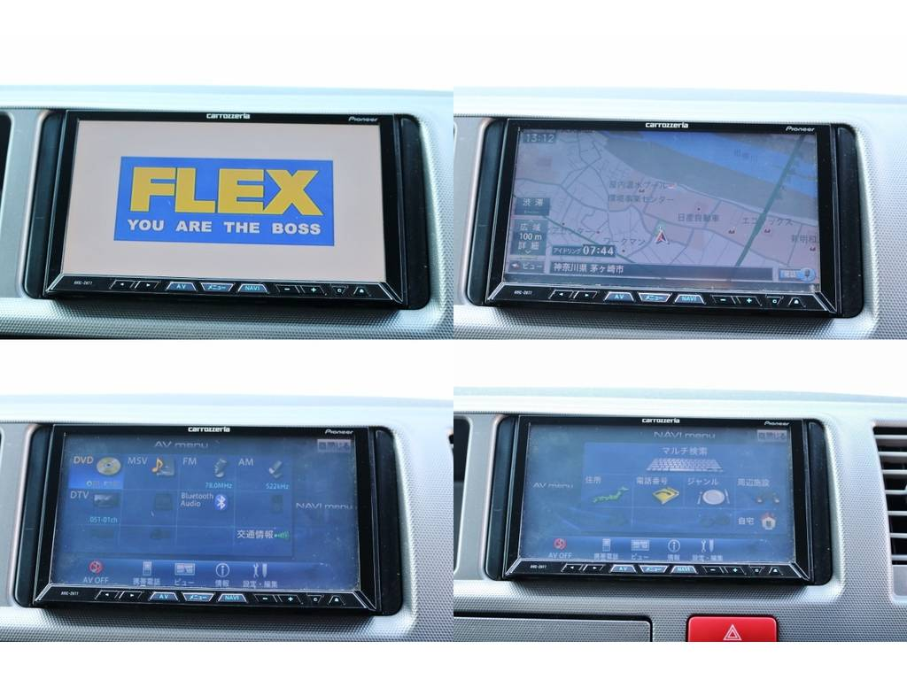 カロッツェリア製HDDナビ取り付け済み♪ | トヨタ ハイエース 2.7 GL ロング ミドルルーフ ベットキット・ナビ・モニター付き